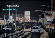 tableau scene de genre albuquerque 1969 new mexico route66 : After the storm