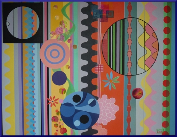 TABLEAU PEINTURE Acrylique  - 70's royal gala