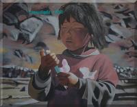 Enfant, frontière népalo tibétaine