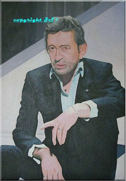 TABLEAU PEINTURE gainsbourg maitre spirituel gainsbarre Personnages Acrylique  - De Gainsbarre à Gainsbourg