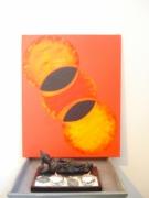 tableau abstrait lune miel : Lune de miel