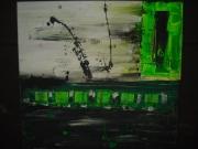 tableau abstrait : Vert espères