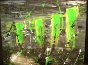 tableau abstrait vert : Vert d'Sespéré