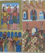 tableau personnages vente achat monde celebre : personnages et monument