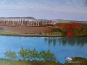 tableau balade paysage romantique : Avignon
