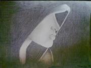 tableau personnages : femme a capuche