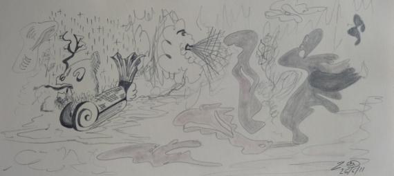 DESSIN Crayon  - Fantômes