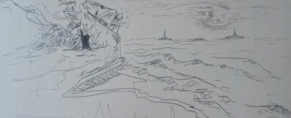 DESSIN Paysages Crayon  - Là ou ailleurs