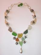 bijoux perles de tahiti argent sea glass : FLEURS D'ARTIFICE
