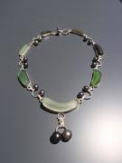 bijoux collier perle de tahiti sea glass : 2 par 2 Tous ensemble