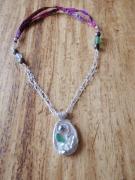 "bijoux collier argent perles tahiti sea glass : ""Eternity"""