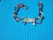 bijoux marine bracelet sea glass manille : AZUR