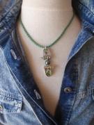 bijoux collier perle de tahiti sea glass manilles : CATAMARAN
