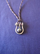 bijoux perle de tahiti cordelette marine : PHARE 1