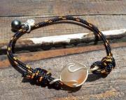 bijoux marine bracelet sea glass cordelette marine perle de tahiti : SUNSET