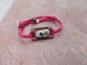bijoux marine bracelet cordelette marine perle de tahiti : AURORE