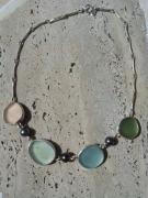 bijoux collier perle de tahiti sea glass argent : AQUARELLE