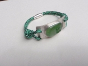 bijoux marine bracelet sea glass cordelette marine argent : TRIBORD