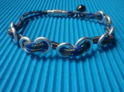bijoux marine bracelet cordelette marine argent : BOUT EN TRAIN