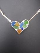bijoux fruits collier argent sea glass : Carole's Sweet Heart