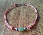bijoux marine collier perle de tahiti sea glass argent : AUBE