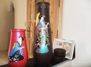 ceramique verre personnages acryl chinoise penture sur verre : motif japonais