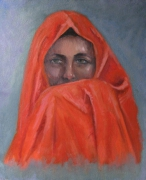 tableau personnages peinture huile portrait toile : portait de femme