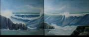 tableau marine marine vague ocean plage : vagues