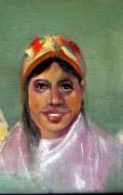 tableau personnages tetes femmes portrait impressionisme : femme berbère