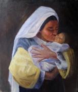 tableau personnages femme mere personnage tableau : le nouveau né