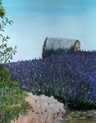 tableau paysages : Meules et Lavandes