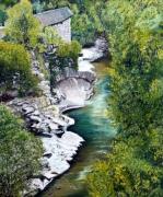 tableau paysages : LE MOULIN DU CHAUDRON (Antraïgues)