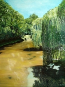 tableau paysages : LES PLEUREURS DU CANAL