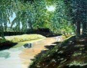 tableau paysages : OMBRE ET LUMIERE SUR LE CANAL