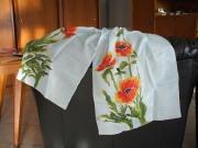 art textile mode fleurs fleurs orange : foulard soyeux 7