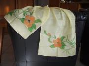 artisanat dart fleurs foulard fleurs modele unique : foulard soyeux 4