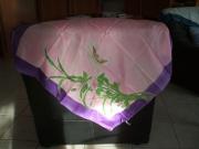 art textile mode fleurs foulard rose creation tendre : Foulard soyeux 1