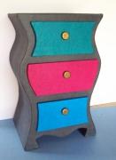 artisanat dart meuble kit carton chevet : Chevet de Nuit