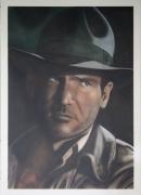 tableau personnages indiana aerographie acrylique aerographe : Indiana Jones