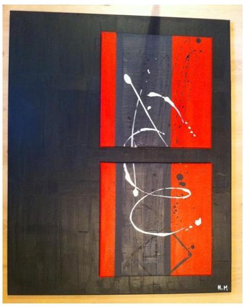 """TABLEAU PEINTURE Modern Tendance Design Abstrait Acrylique  - La """"Haute"""""""