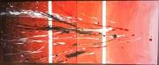 tableau abstrait design moderne : Barrière de corail