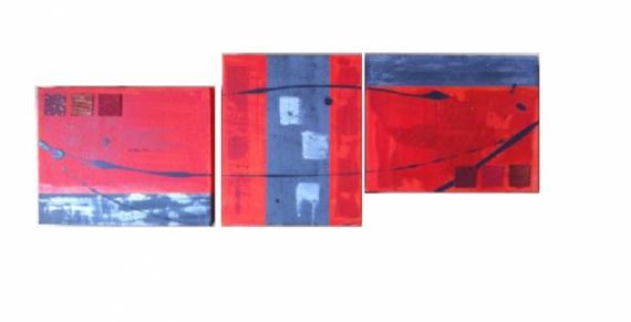 TABLEAU PEINTURE design modern Abstrait Acrylique  - Crepuscule