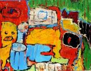 tableau abstrait 1 1 1 1 : Nain jaune