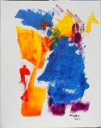 tableau abstrait : Bonhomme bleu