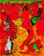 tableau abstrait 1 1 1 1 : Visage malgré moi