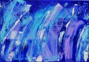 tableau abstrait 1 1 1 1 : Mur de vagues