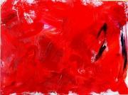 tableau abstrait 1 1 1 1 : Sable rouge