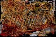 tableau abstrait 1 1 1 1 : Maïs en feu