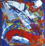 tableau abstrait 1 1 1 1 : Pont rouge