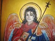 tableau michael jackson st michel archange saint miche : Archangel MJ
